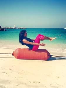 Malavika's Day 2: A fitness photoshoot!